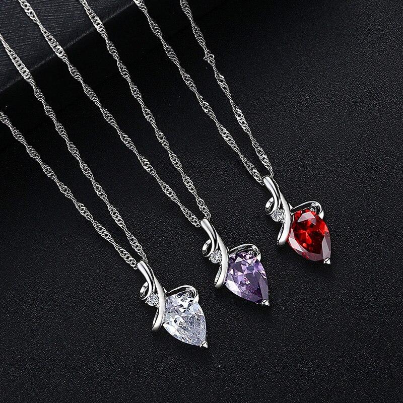 Модная красная, фиолетовая, каплевидные ожерелье с подвеской для женщин и девушек, элегантные темпераментные плиссированные закрытые туфл...