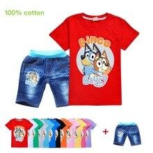 New Girls Summer Toddler Clothes Fashion Cartoon Dog Bingo B