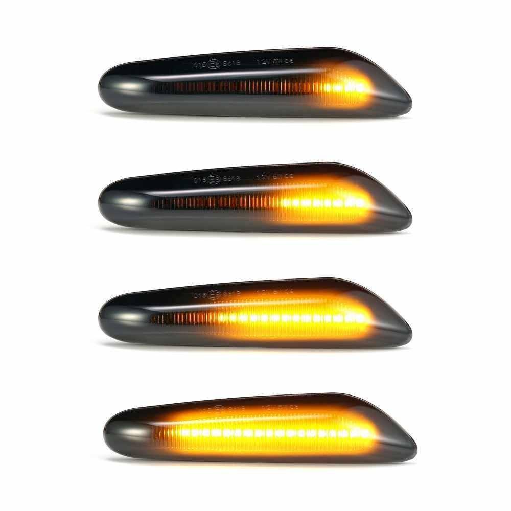 1 Pair Auto Del Segnale di Girata Luci di Direzione a Led Indicatore di Direzione Lampeggiante Spia di Segnalazione Della Lampada Indicatore Laterale per Bmw E90 E91 E92 e93 E60 E87 E82 E46