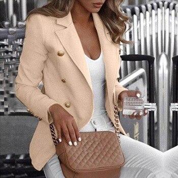 Button Ladies Blazer 2020 Fashion Work Suit Women's Jacket Office Lady Formal Blazers and Jackets Female Blazer Femme 5XL