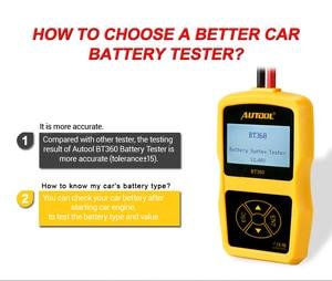 Image 5 - AUTOOL BT360 12V Auto Batterie Tester Digitale Automotive Diagnostic Batterie Tester Analyzer Fahrzeug Ankurbeln Lade Scanner Tool