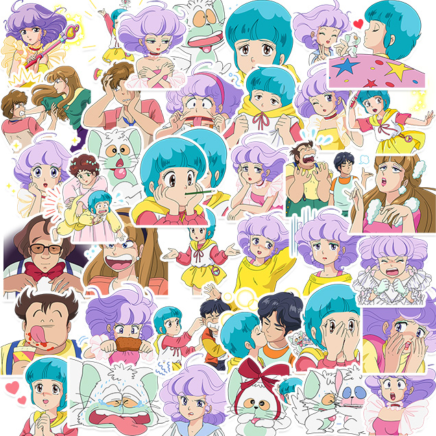 40pcs Anime Cartoon Little Sweet Girl Stickers Crafts And Scrapbooking Stickers Book Student Label Decorative Sticker Kids Toys