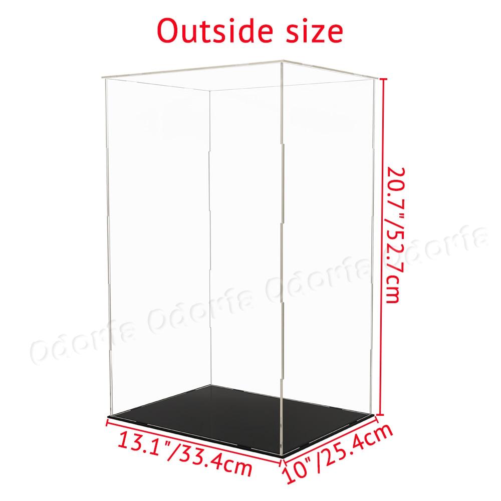 Odoria Clear Acryl Vitrine 52cm H Zelf assemblage Perspex Box Stofdicht Voor 1/4 Action Figure Modellen Poppen collectibles-in Model Accessoires van Speelgoed & Hobbies op  Groep 2