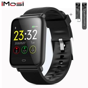 Image 1 - Imosi Q9 Bloeddruk Hartslagmeter Smart Horloge IP67 Waterdichte Sport Fitness Trakcer Horloge Mannen Vrouwen Smartwatch