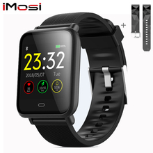 Imosi Q9 Bloeddruk Hartslagmeter akıllı Horloge IP67 Waterdichte spor Fitness tracker Horloge Mannen Vrouwen Smartwatch