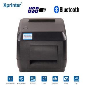 Image 1 - Xprinter ישירה ברקוד העברת מדבקת מדפסת רוחב 110mm עם סרט חינם מדפסת עבור תכשיטי תגי בגדים