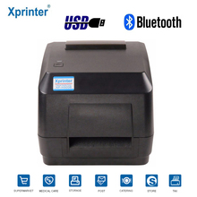 Xprinter Direct Thermal Transfer BarCode label sticker Printer width 110mm with Ribbon shipping printer for Jewelry tags Clothes