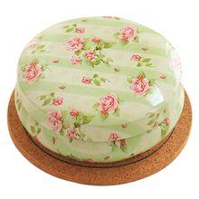 Круглый сахар кофе портативный органайзер коробка theedoos стиль чайные коробки цветок кухня контейнер монета подарок оловянный рисунок
