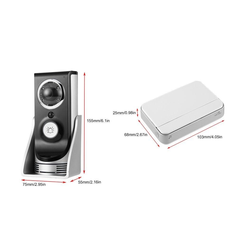 Купить с кэшбэком 140 degree wide angle Wireless WiFi Doorbell Video Intercom Doorbell Mobile Phone APP Remote Control Unlock Remote Monitoring