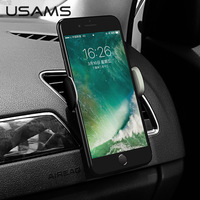 USAMS Mini Car Phone Holder Stand for Xiaomi Redmi Huawei in Car GPS Air Vent Mount Car Phone Holder for iPhone Samsung Xiaode Holder