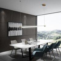 Modern Minimalist LED Tube Bar Pendant Lamp Hanging LED Linear Light 90cm 120cm Office Lighting Dining Room Lights AC100 240V