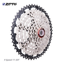 ztto 9 speed cassette 18S 27S Sprocket 11-50T for sunrace k7 9s freewheel cassete velocidade slx