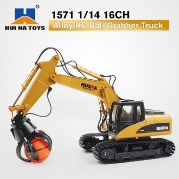 HUINA TOYS 1571 1/14 16CH Alloy RC Ball Grabber Truck Engineering Construction Car Vehicle with Sound Light Rotate 680 DegreeRTR
