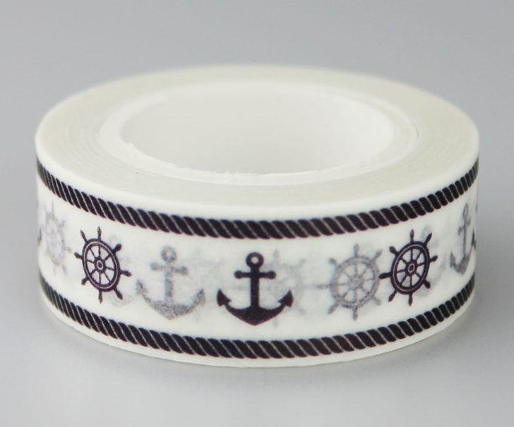 15mm*10m Black Sea Diy Decorative Washi Masking Tape(1piece)