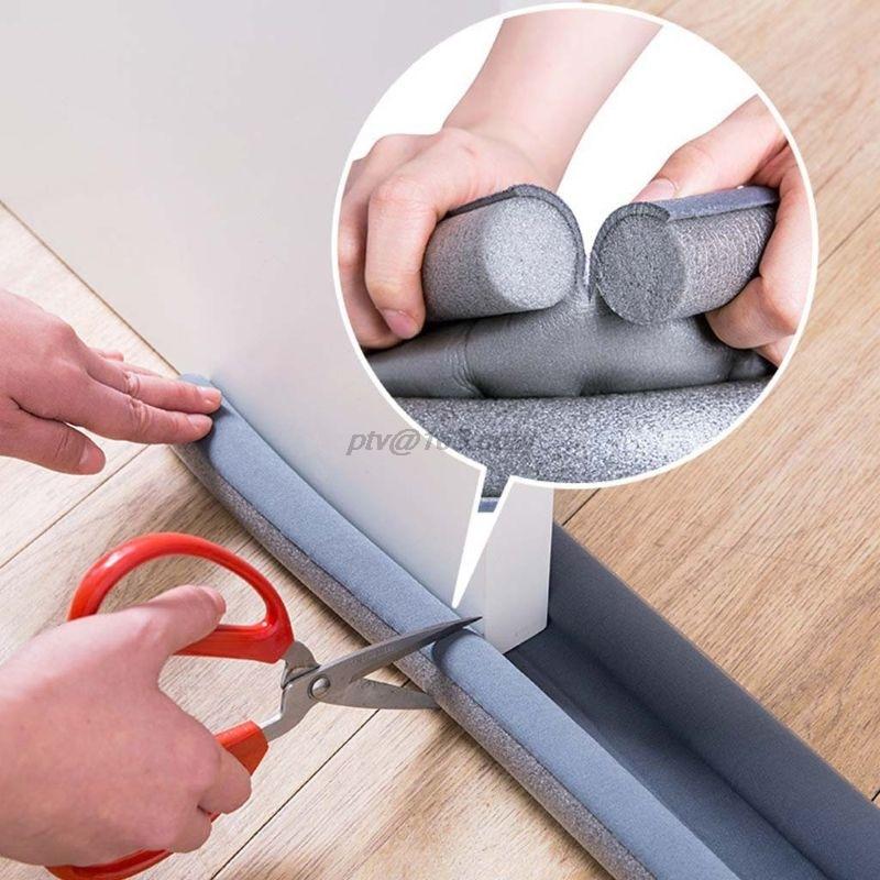 Porta flexível à prova de som tira de vedação inferior dustproof weatherstrip guarda aferidor rolha bloqueador poeira