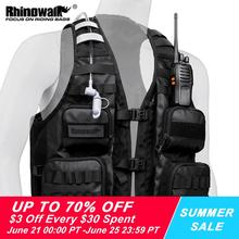 Rhinowalk Fishing Vest Backpack Outdoor Sport Hiking Bag Portable Running Cycling vest Men jacket Pack Can add water bag 2021New