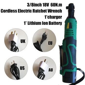 New 18V 60N.m 3/8inch Cordless Right Angle Electric Ratchet Wrench Tool W/ Battery Brand New And High Quality