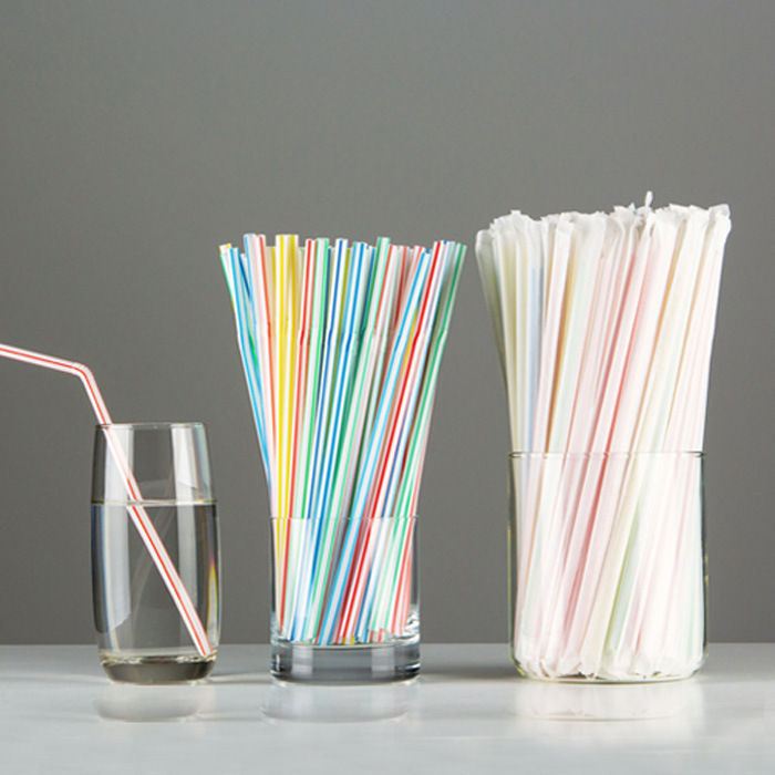 50 Sticks Elbow Fruit Juice Beverage Straw Disposable Single Bottle Film Packaging Individual Package Maternal