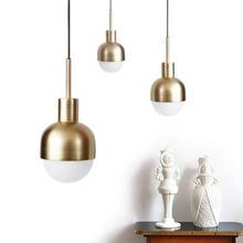 Современная медная Подвесная лампа в скандинавском стиле миниатюрный