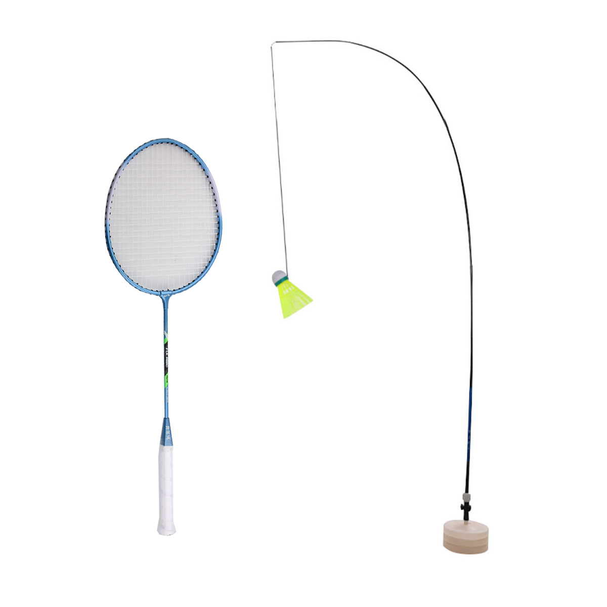 Badminton Racket Shuttlecock Training Water Injection Base Pole Rope Outdoor Sport Exercise Device Self Study Rebound Equipment