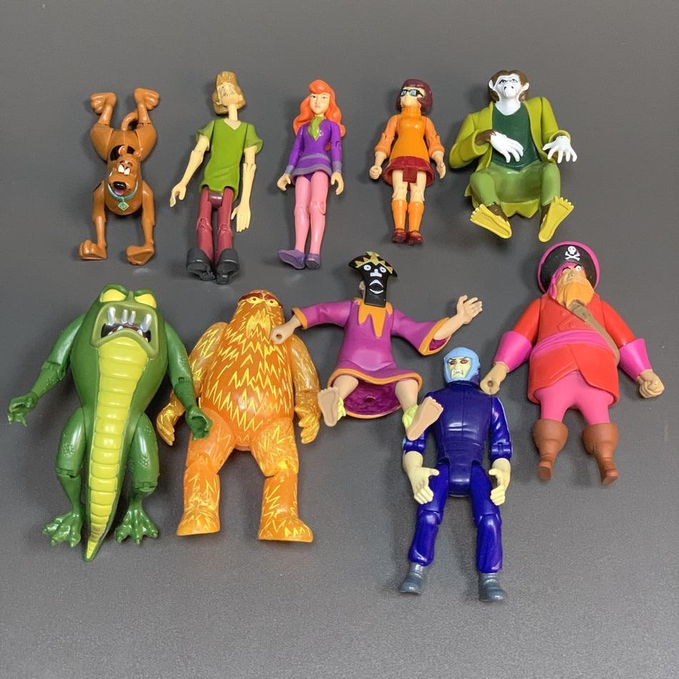 Rare Lot 8 Scooby-Doo Velma Shaggy Daphne Dog Fred 5/'/' Action Figures toys