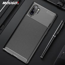 For Samsung Galaxy Note 10 Plus Case Luxury Carbon FIber Cover 360Full Protection Phone Case For Samsung Note 10+ Cover Bumper