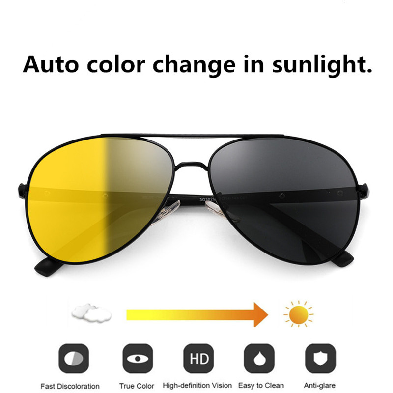 FENCHI conducción gafas de visión nocturna gafas de sol polarizadas amarillas mujeres hombres gafas de visión nocturna coche oculos feminino zonnebril