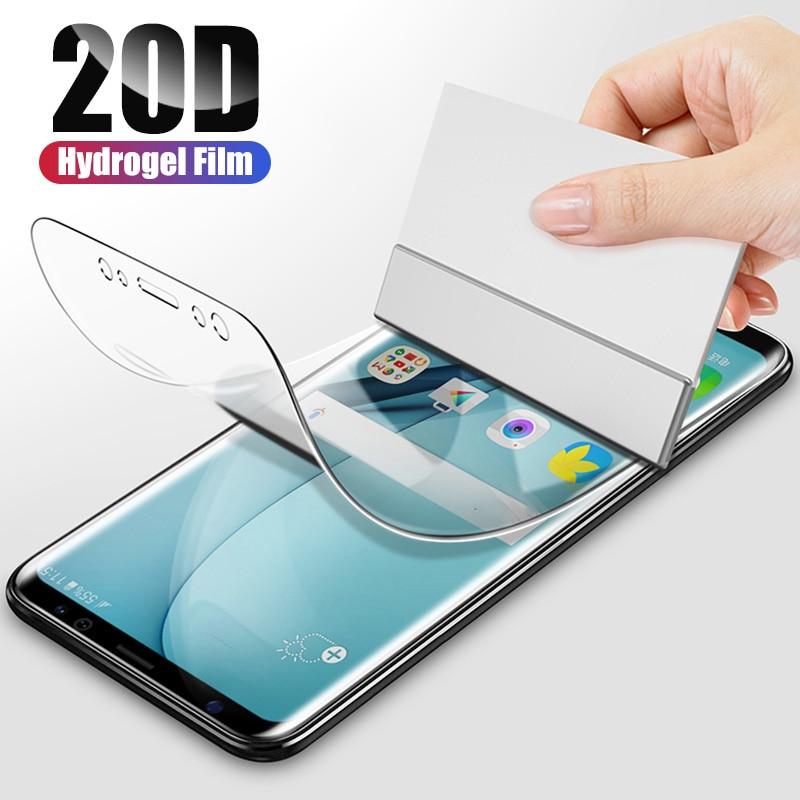 20d capa completa filme de hidrogel macio para samsung galaxy s20 s10 s8 s9 mais nota 10 9 mais s20 ultra protetor de tela filme s10 5g s9