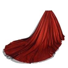 ウェディングパーティーオーバーレイスカート女性フロアレングスエレガントマキシロング裁判所の列車ウエディングドレス