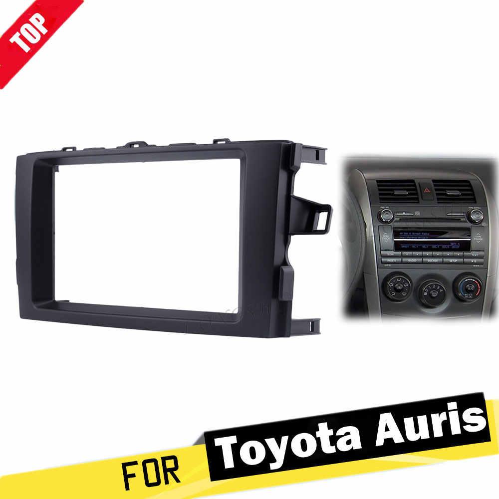 LONGSHI płyta panelu radioodtwarzacz samochodowy Surround dla TOYOTA Auris 2006 2007 2008 2009 2010 20112012 DVD montaż samochodowej zestaw 2d