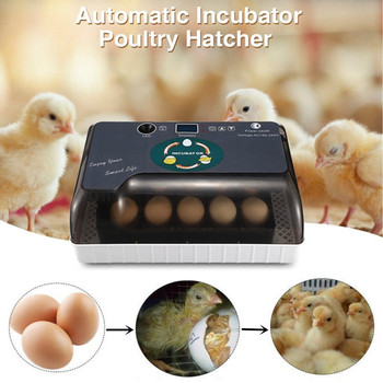 Full AutomaticEggIncubator Brooder Farm Hatchery Machine 12EggHatcher Chicken Egg Incubator Goose Bird Quail Brooder
