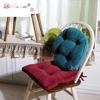 LeRadore High Quality Thickened Decorative Pillows Square Round Solid Velvet Office Chair Back Throw Home Decorative Pillow Seat