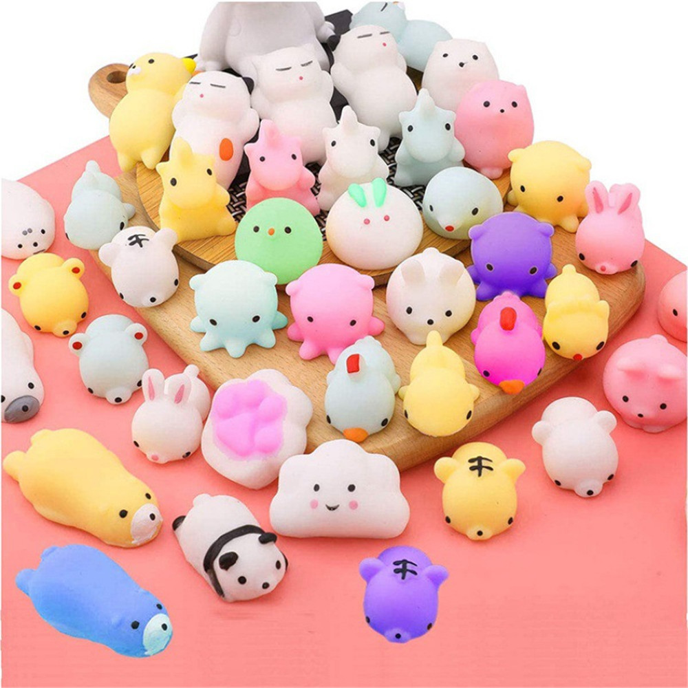 Mochi Squishy Toys Stress-Toy Moj Adult Child Cute Kawaii For Kids Gift with Bag Venting