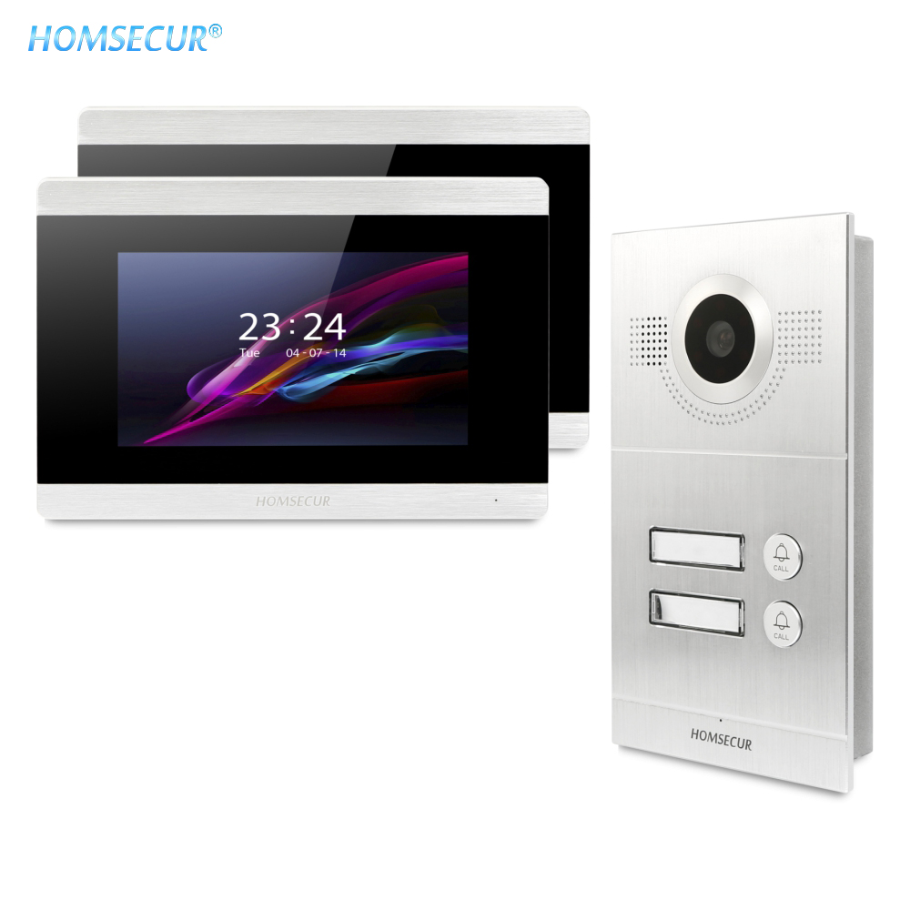 HOMSECUR 7inch Video Door Entry Phone Call System With Recording & Snapshot BC121-2S+BM715-S