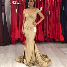 Женское вечернее платье русалка длинное плиссированное цвета