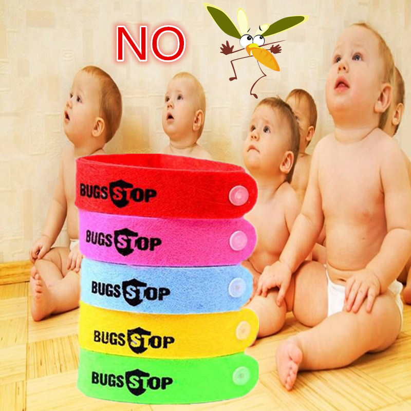 5/10Pcs Eco Friendly Anti Mosquito Wristband Mosquito Insect Bugs Repellent Bracelet Safe For Children Home Outdoor Pest Killer