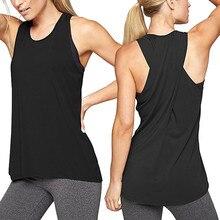Women's Cross Back Shirt Sleeveless Tshirt Racerback Workout