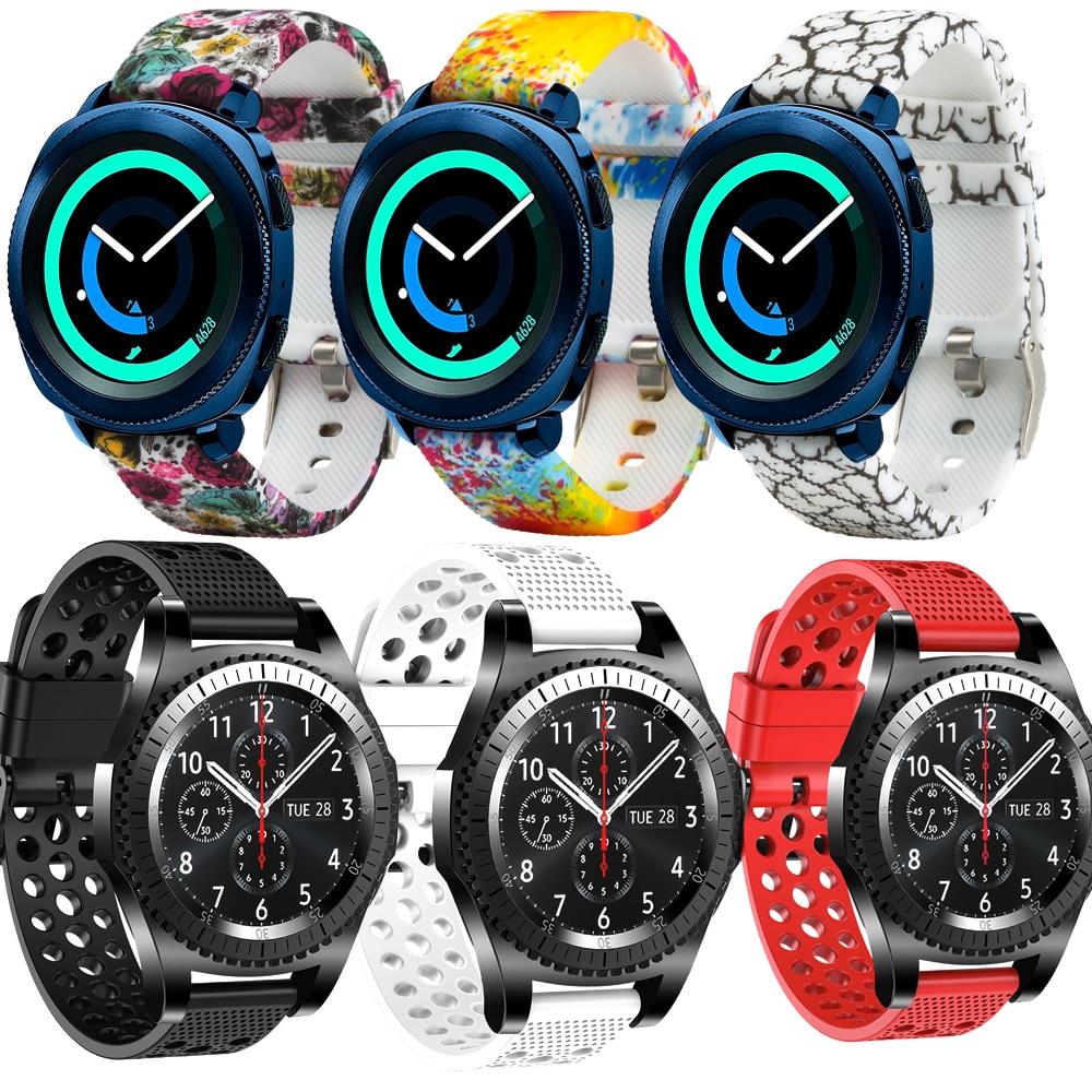 Honecumi 20MM Silicone Band Replacement Watchband Strap For Garmin Vivoactive 3/Gear Sport/Garmin 645/Vivomove HR Bands Strap