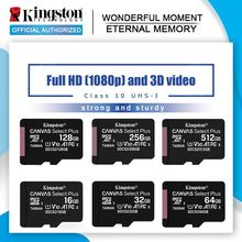 Kingston Micro SD Card 128GB 256GB Class10 scheda di memoria Flash 64GB 32GB 16G TF Card cartao de memoria microsd 512GB per telefono