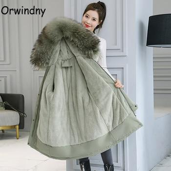 Orwindny Winter Coat Women Plus Size 5XL 6XL Warm Wool Liner Jackets Ladies Large Fur