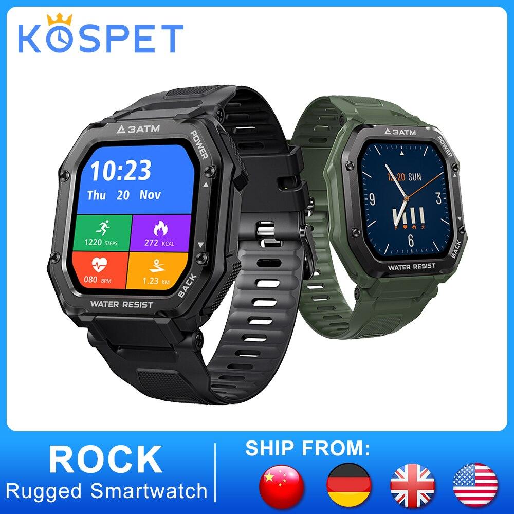 KOSPET ROCK Прочный Спорт на открытом воздухе Смарт-часы для мужчин полный сенсорный экран фитнес трекер приборы для измерения артериального да...