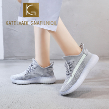 KATELVADI Women's Fashion Sneakers Flat Heel Breathable Mesh Women Sneakers Slip On Low Top Casual Shoes Woman SP003 suede low top slip on sneakers