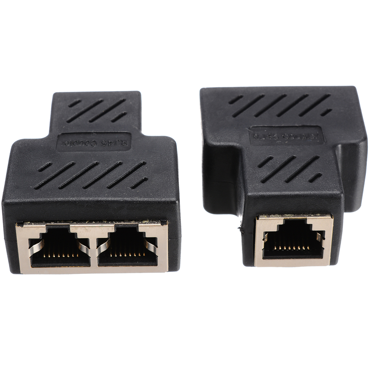 <font><b>1</b></font> Pair/2Pcs RJ45 Female <font><b>Splitter</b></font> Connector <font><b>Adapter</b></font> <font><b>1</b></font> <font><b>To</b></font> <font><b>2</b></font> Female Coupler Port LAN <font><b>Ethernet</b></font> Network Cable Connecter image
