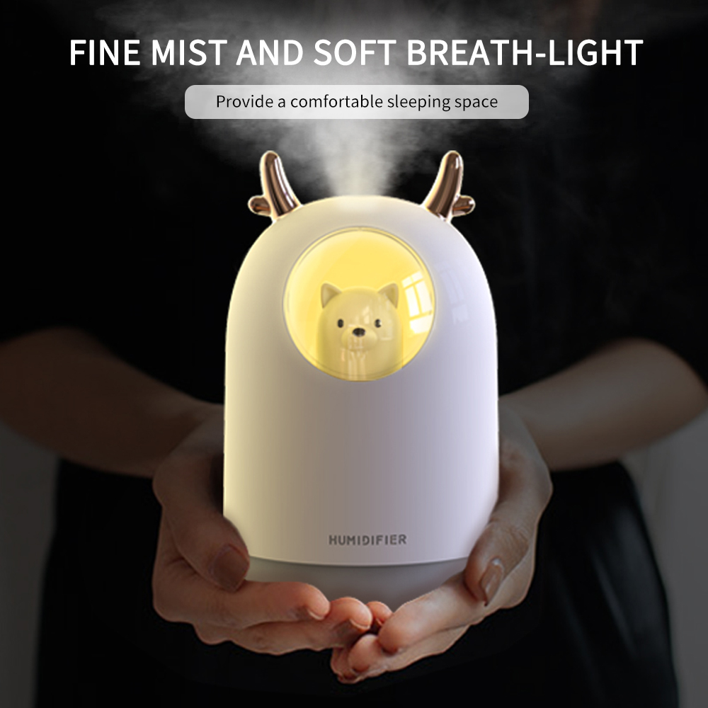 300ML Mini Adjustable USB Air Humidifier Timing Aroma Essential Oil Diffuser Cool Mist Maker Fogger With Light For Room Car