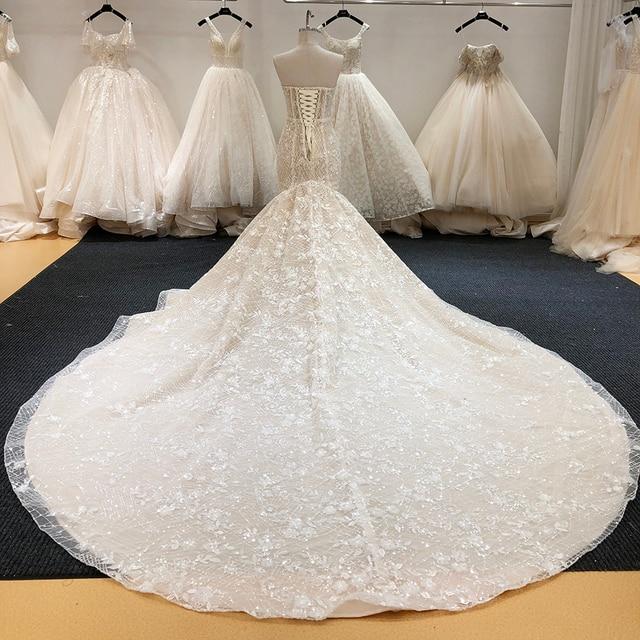 SL-6229 New Arrival Crystal Bling Bling Mermaid Wedding Dresses 2020 Full Beading Bridal Wedding Gowns 2