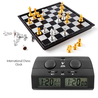 Chess Clocks Professional Portable Digital chess board competition Count Up Down Chess games Electronic Alarm stop timer