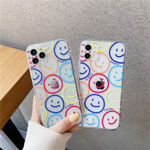 Cute Color Smile For Samsung S21 A21 a21S A30 A40 A50 A70 A71 A80 A51 S9 S10 plus S20 FE Note 20 Ultra 8 9 10 Cute Soft Cover