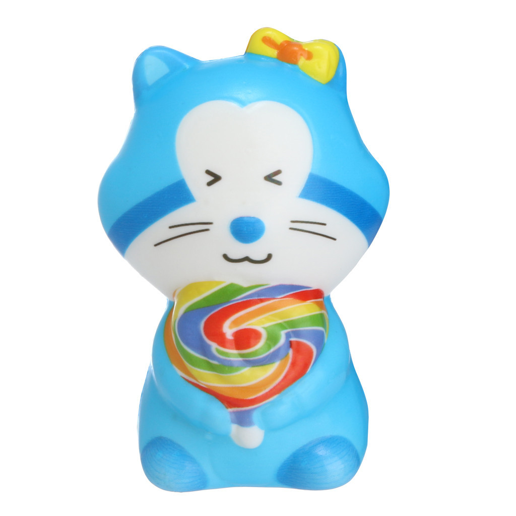 Cute  Cartoon Cat Stress Relief Kid Student Toy Christmas Gift Squishy Squishy Stress Reliever Decor Toys Birthday Gift #A