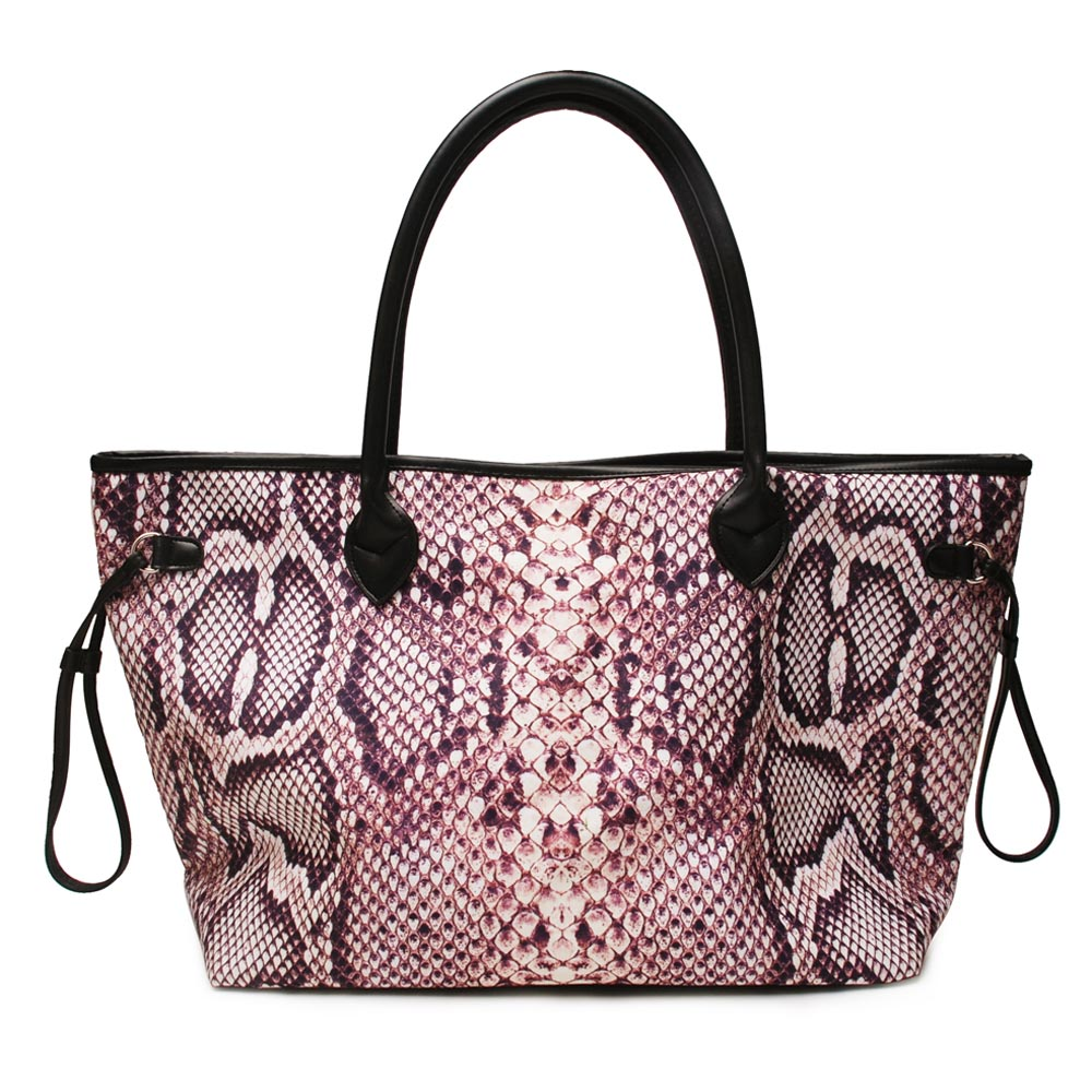 2pcs Python Tote กระเป๋าขายส่งช่องว่างงูพิมพ์ผ้าใบ String กระเป๋าถือไม่มีที่สิ้นสุดผู้หญิงกระเป๋า DOM1061269-ใน กระเป๋าหูหิ้วด้านบน จาก สัมภาระและกระเป๋า บน   2
