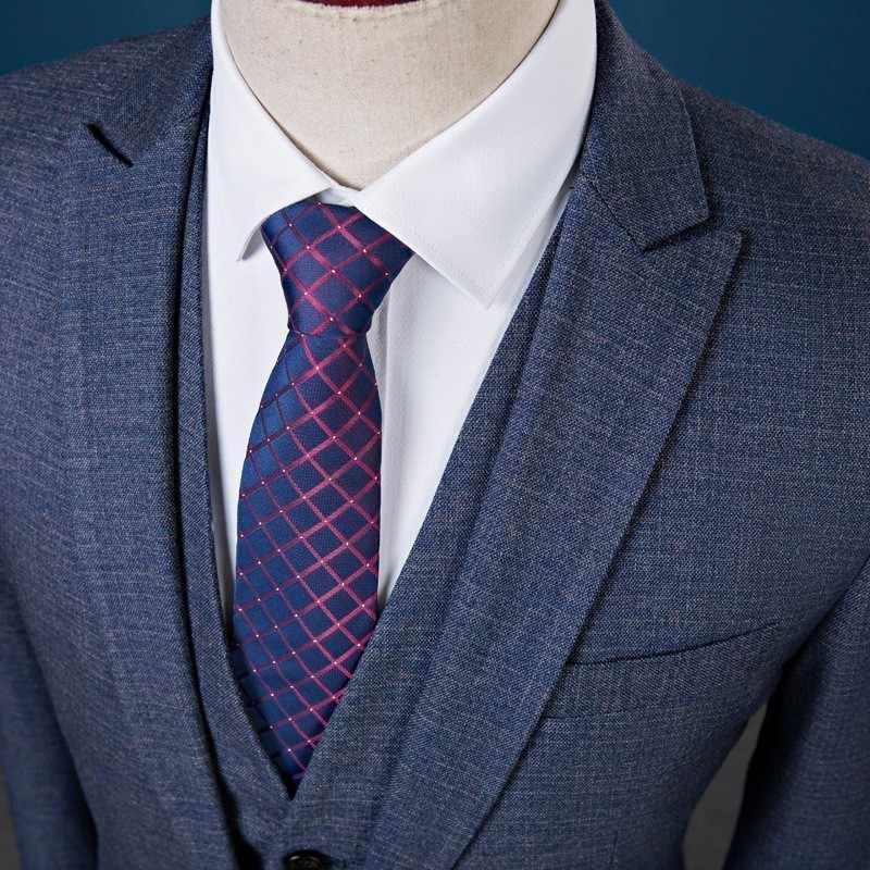 Nieuwe Slim Fit Men Suits Bruiloft Bruidegom Plus Size 4XL 2020 Gentleman Business Casual Smoking Jurk Mannelijke Donkergrijs Blauw 3 Stuks Pak